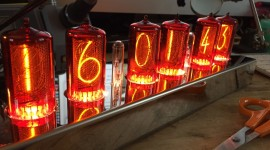 Nixie Tube Clock Wallpaper Download Free