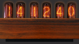 Nixie Tube Clock Wallpaper For Desktop