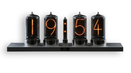 Nixie Tube Clock Wallpaper For PC