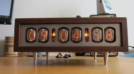 Nixie Tube Clock Wallpaper Free