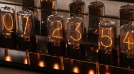 Nixie Tube Clock Wallpaper Full HD
