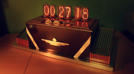 Nixie Tube Clock Wallpaper HQ
