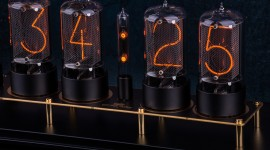 Nixie Tube Clock Wallpaper High Definition