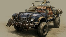 Post Apocalypse Car Desktop Wallpaper For PC
