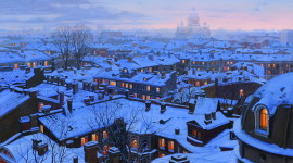 Roof City Winter Photo Download