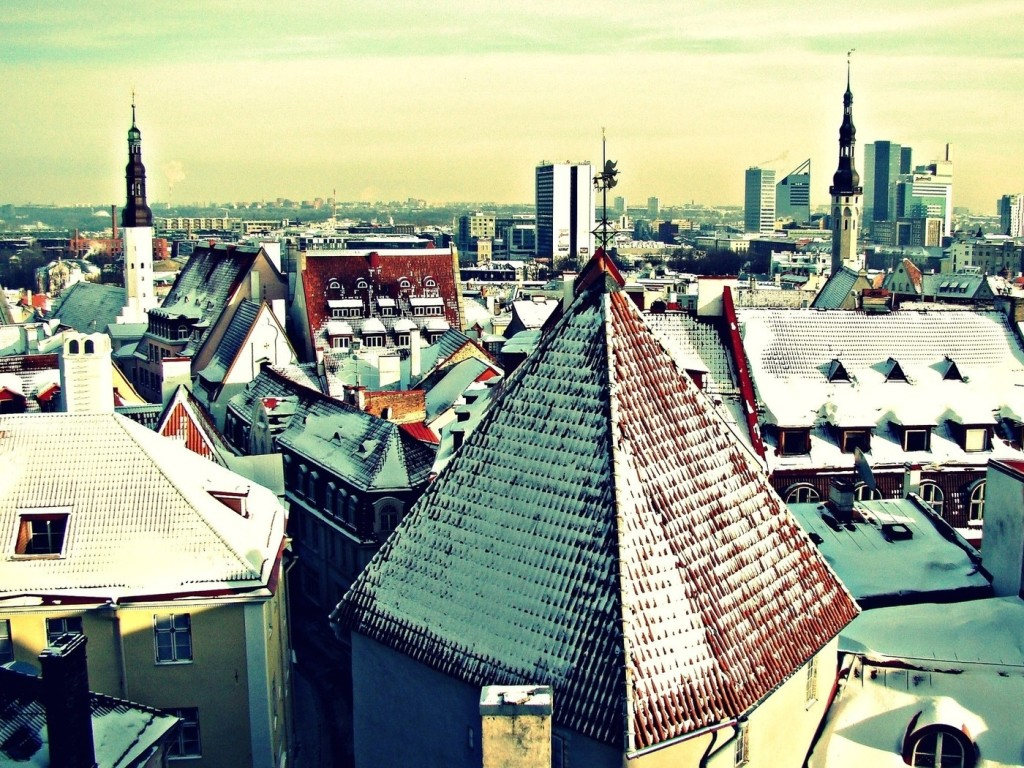 Roof City Winter wallpapers HD