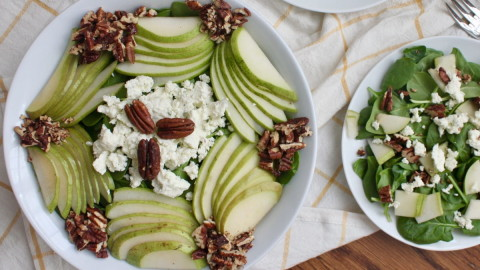 Salad With Pears And Cheese wallpapers high quality