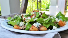 Salad With Pears And Cheese Image
