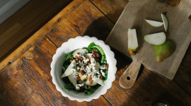 Salad With Pears And Cheese Photo