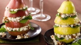 Salad With Pears And Cheese Wallpaper HQ