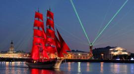 Scarlet Sails Desktop Wallpaper