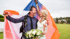 Skydiving Wedding Aircraft Picture