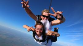 Skydiving Wedding Photo