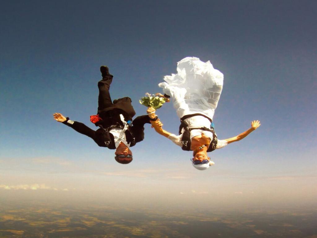 Skydiving Wedding wallpapers HD
