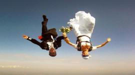 Skydiving Wedding Wallpaper