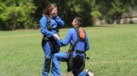 Skydiving Wedding Wallpaper For PC