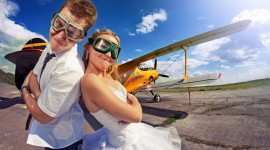Skydiving Wedding Wallpaper Free