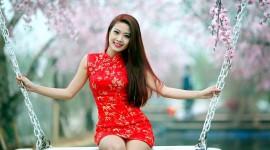 Swing Model Girl Wallpaper Full HD