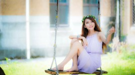Swing Model Girl Wallpaper Gallery