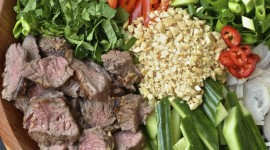 Thai Beef Salad Wallpaper For IPhone