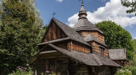 Wooden Church Wallpaper