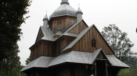 Wooden Church Wallpaper For PC