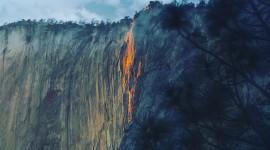 Yosemite Firefall High Quality Wallpaper