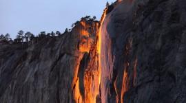 Yosemite Firefall Wallpaper Background
