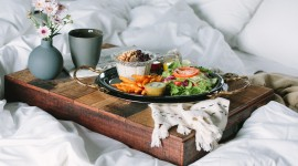 4K Breakfast On A Tray Wallpaper Free