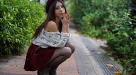 4K Girl Mini Dress Photo