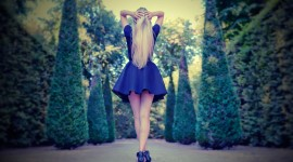 4K Girl Mini Dress Wallpaper
