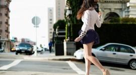 4K Girl Mini Dress Wallpaper HQ