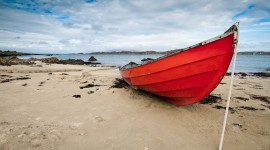 Beach Boat Sand Photo Free