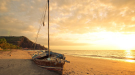 Beach Boat Sand Wallpaper For PC