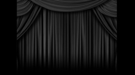 Black Curtains Wallpaper