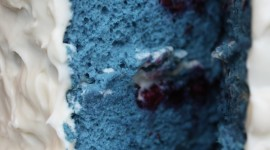 Blue Cake Wallpaper For IPhone