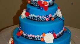 Blue Cake Wallpaper For Mobile#3