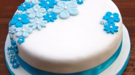 Blue Cake Wallpaper For PC
