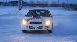 Drift In The Snow Desktop Wallpaper HD