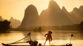 Fisherman's Sunset Wallpaper