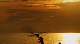 Fisherman's Sunset Wallpaper For Mobile