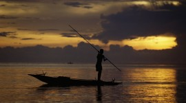 Fisherman's Sunset Wallpaper For PC