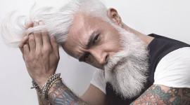 Gray Haired Man Wallpaper