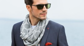 Man Scarf Photo Download