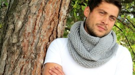 Man Scarf Photo Free