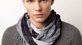 Man Scarf Wallpaper For IPhone#1