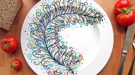 Painted Plates Wallpaper