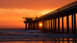 Pier Sunsets Aircraft Picture