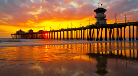 Pier Sunsets Image