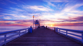 Pier Sunsets Image Download
